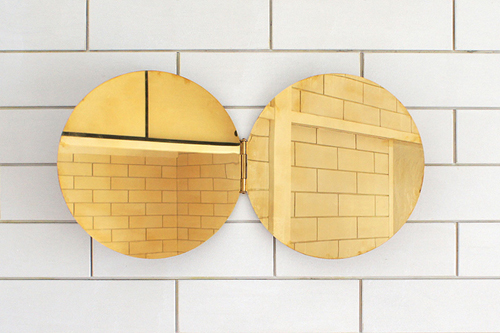 Mnhinged Brass Mirror
